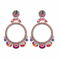 Ayala Bar Electric Ladyland Pink Flower Earrings