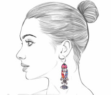 Ayala Bar Electric Ladyland French Wire Earrings