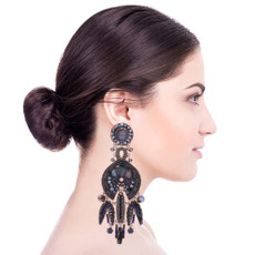 Ayala Bar Love Jet Echo Earrings