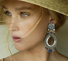 Ayala Bar Sapphire Waves Chakra Earrings