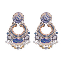 Ayala Bar Sapphire Waves Gypsy Earrings