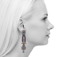 Ayala Bar Sapphire Waves Telescope Earrings