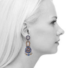 Ayala Bar Sapphire Waves Bubblegum Earrings