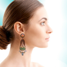 Ayala Bar Fiesta Green Constellation Earrings