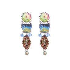 Ayala Bar Fiesta Green Watercolor Earrings