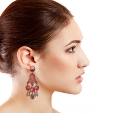 Ayala Bar Crimson Dreams Bloom Earrings