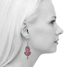 Ayala Bar Crimson Dreams French Wire Earrings