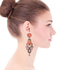 Ayala Bar Coral Cave Art Deco Earrings