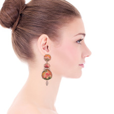 Ayala Bar Coral Cave Vintage Earrings