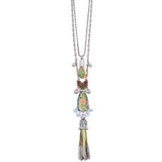 Ayala Bar Fiesta Green Long and Layered Necklace
