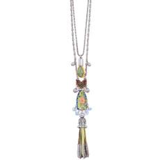 Ayala Bar Fiesta Green Long and Layered Necklace