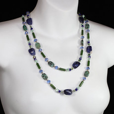 Michal Golan Lake Como Long Beaded Layered Necklace
