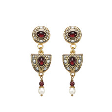 Michal Golan Victorian Arch Dangle Earrings