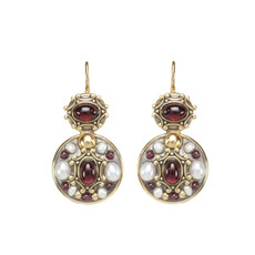 Michal Golan Victorian Double Round Earrings