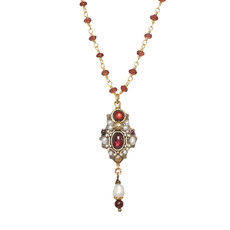 Michal Golan Victorian Garnet Necklace