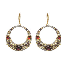 Michal Golan Victorian Hoop Earrings