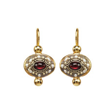 Michal Golan Victorian Oval Earrings