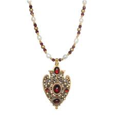 Michal Golan Victorian Spade Necklace