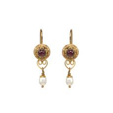 Michal Golan Victorian Tiny Flower Earrings