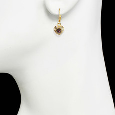 Michal Golan Victorian Tiny Heart Earrings