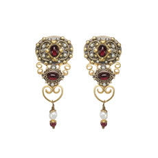 Michal Golan Victorian Vintage Clip on Earrings