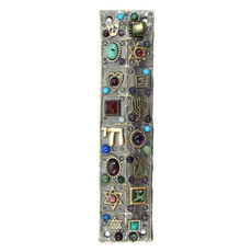 Michal Golan Multicolor Judaica Mezuzah