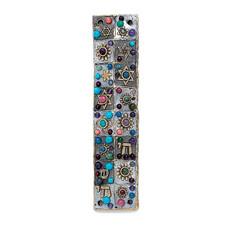 Michal Golan Floral Mosaic Mezuzah