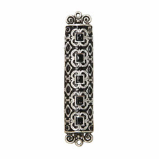 Michal Golan Large black and silver decorated mezuzah