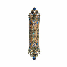 Michal Golan Mezuzah in Blue and Gold