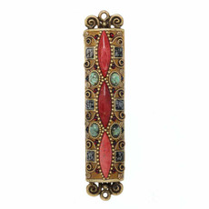 Michal Golan Red Stone Mezuzah