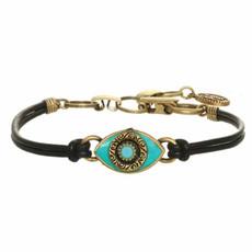 Michal Golan Small Turquoise Evil Eye Bracelet