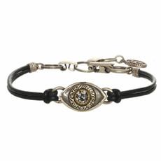 Michal Golan Small Silver Eye Bracelet