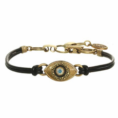 Michal Golan Gold Evil Eyes Bracelets