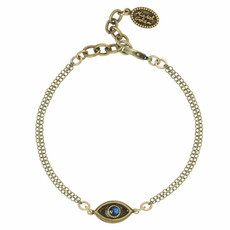 Michal Golan Small Blue evil eye bracelet