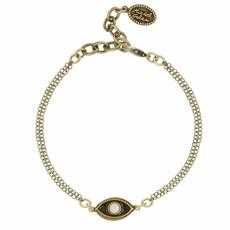 Michal Golan Small White evil eye bracelet