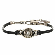 Michal Golan Small Black and Crystal Eye Bracelet