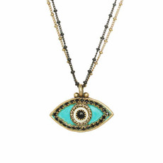 Michal Golan Evil Eye Turquoise Necklace