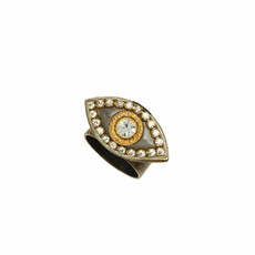 Michal Golan Medium silver and gold evil eye ring