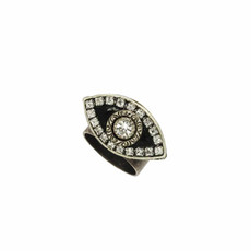 Michal Golan Evil Eye Black adjustable Eye Ring
