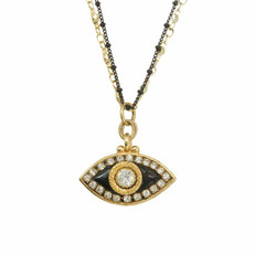 Michal Golan Evil Eye Black  Eye Necklace
