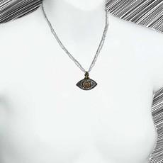 Michal Golan Evil Eye Black  Eye Necklace