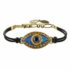 Michal Golan Deep Blue and Gold Evil Eye Bracelet
