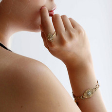 Michal Golan Dazzling Nude Eye Charm Bracelet