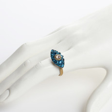 Michal Golan Dazzling Cyan Small Eye Ring