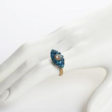 Michal Golan Dazzling Cyan Small Eye Ring