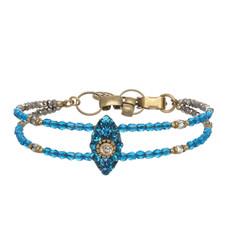 Michal Golan Dazzling Cyan Eye Bracelet