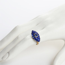 Michal Golan Dazzling Blue Small Adjustable Eye Ring