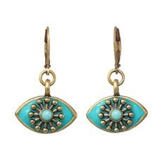 Michal Golan Turquoise Eye Earrings