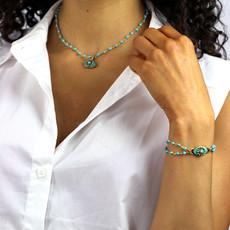 Michal Golan Turquoise Eye Bracelet