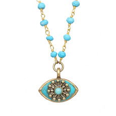 Michal Golan Small Turquoise Eye Necklace